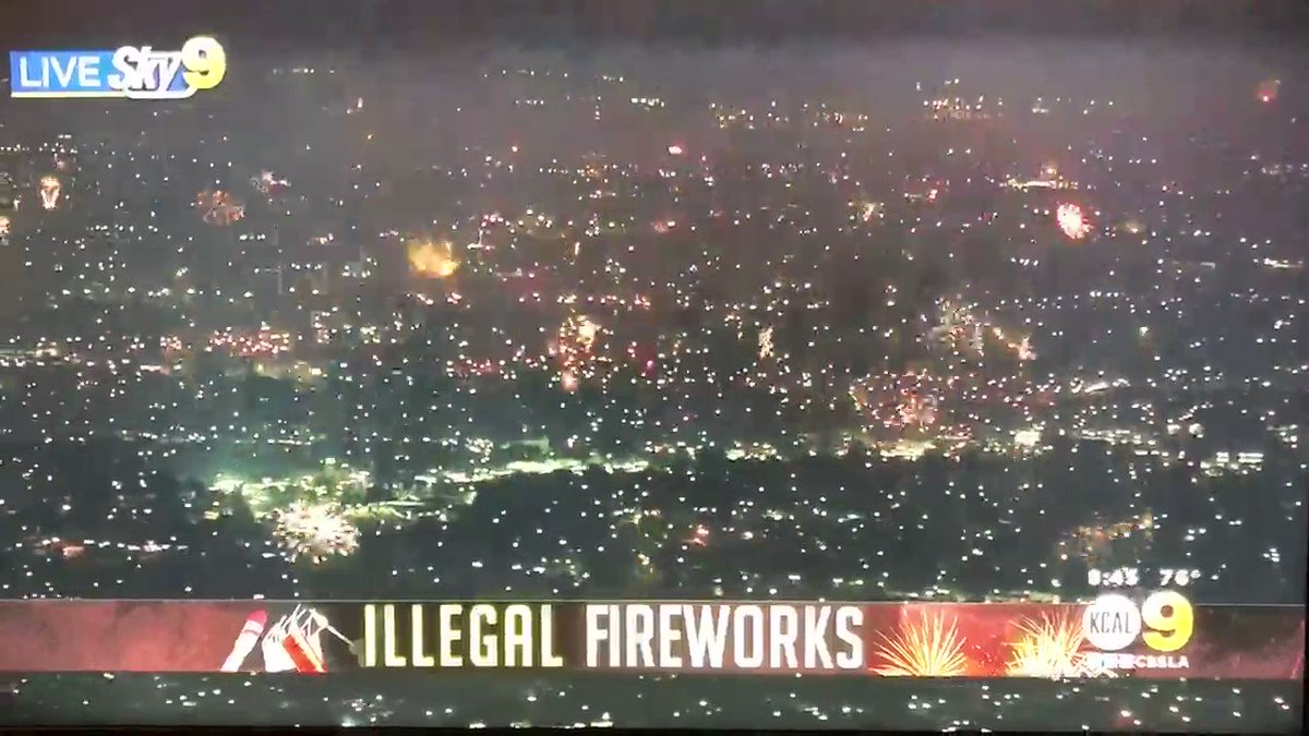 Look at the LA skies right now! Out of F'n control! And look at all the shit in the air!   #4thofJuly  #Fireworks