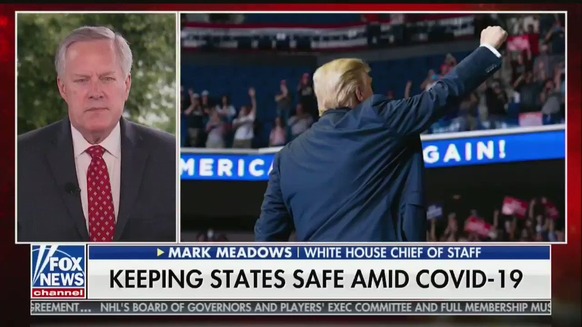 """""""Outside from [comorbidities], the risks are extremely low"""" — Mark Meadows defends Trump's false claim about 99 percent of Covid cases being harmless"""