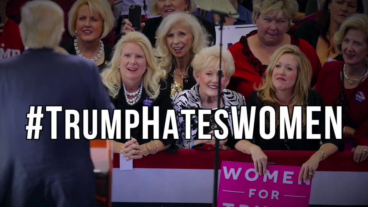 Donald Trump has harassed, abused, assaulted and denigrated women for years.    And laughed about it. It's disgusting.  This is our new video.  It deals with some of Trump's horrible history with women and explains what needs to be done to end his abuse forever.  #TrumpHatesWomen