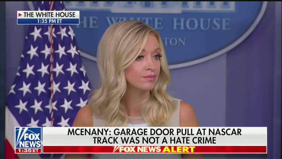 ".@jonkarl: Does Trump think it was a mistake for Nascar to ban the Confederate flag?  KAYLEIGH McENANY: ""You're focusing on one word at the very bottom of a tweet. That's completely taking it out of context."""