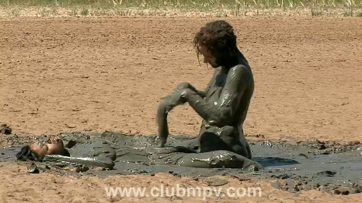 """2/2 """"Deep Mud Beach"""" - In part two, Camilla and Jessica make their way to the water, but realize they have to go back into the mud for their clothes. So, the action starts all over again!    #mud #wam #lesbian #mpv #messy #Asian #redhead"""