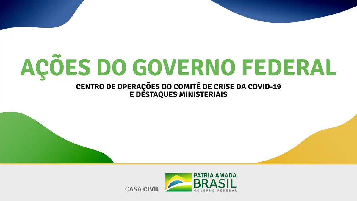 Confira o balanço das ações articuladas pelo Centro de Coordenação de Operações (CCOP/@casacivilbr), de 6 de julho, para diminuir os efeitos da pandemia de #Covid19 na vida dos brasileiros: