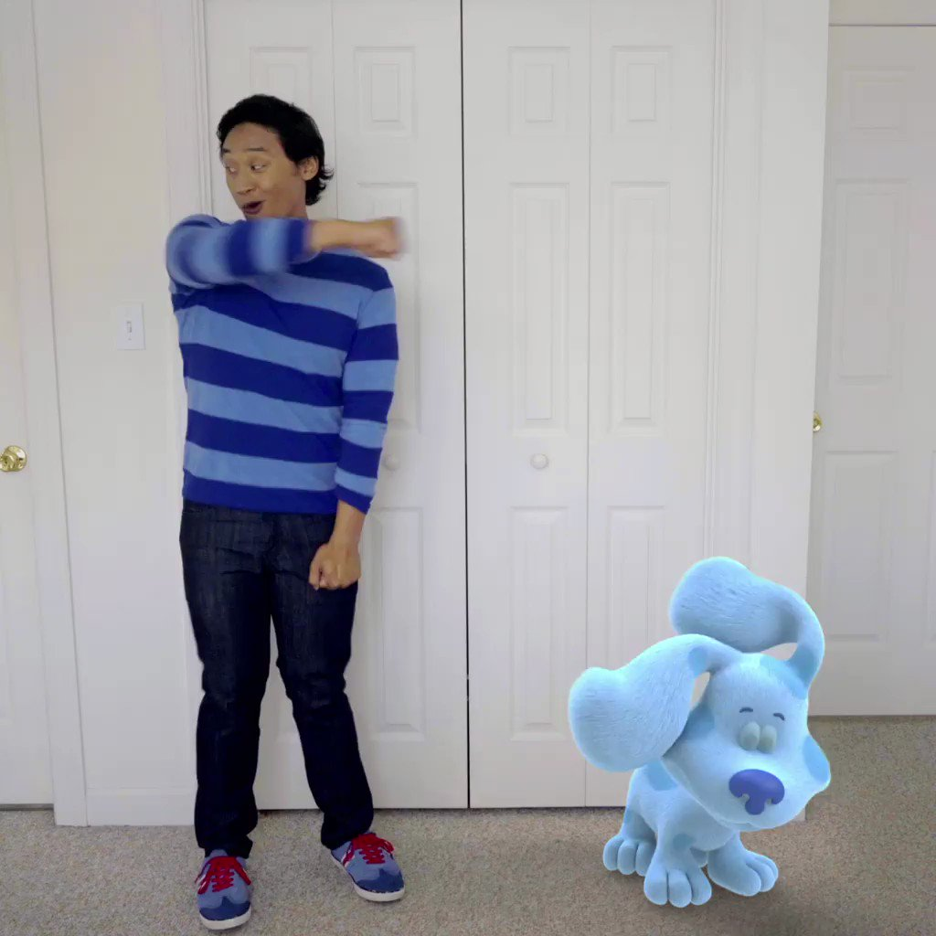 Blue skidoo, we can too! Learn how to do the #SkidooChallenge and check out new Blue's Clues and You! products only at