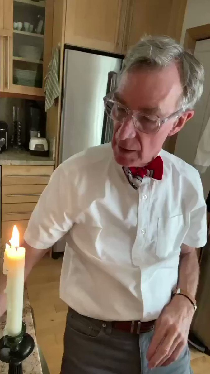 #billnye #WearADamnMask #WearAMaskPlease #wearamask #WearAMaskSaveALife #COVID__19 #coronavirus #therona #maskchallenge put on different mask and try to blow our candles. Virus clings to your saliva particles & mask block that #theywork #science
