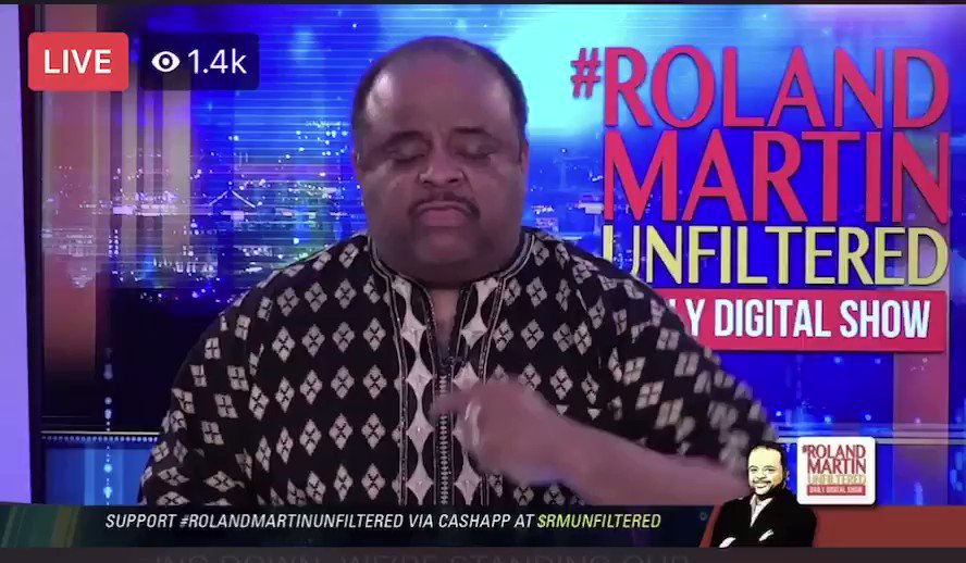 Black Lives Matter Activist and Black Militia Supporter @rolandsmartin   thinks people are thugs if they don't believe in science and if they don't believe everything the CDC say