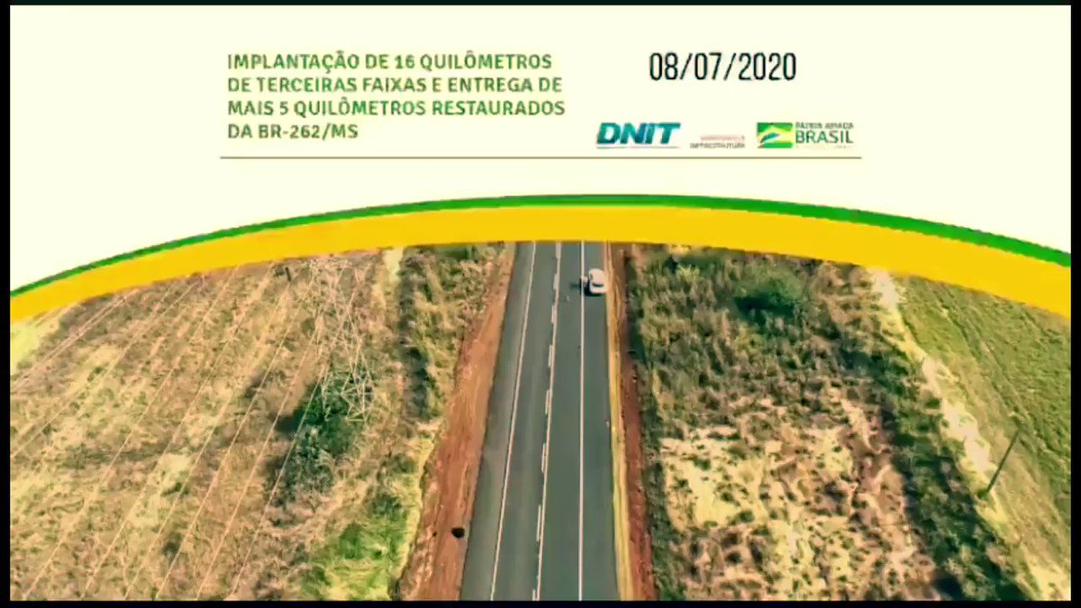 3- Entregues + 16km de 3a faixa na BR-262/MS e + 5km de nova pista. Já são 61km restaurados. Liberados também, últimos 9km de pista recuperada na BR-364/RO. 197km de restauração da estrada que é a principal integração do estado com a malha nacional. Detalhes no @MInfraestrutura .