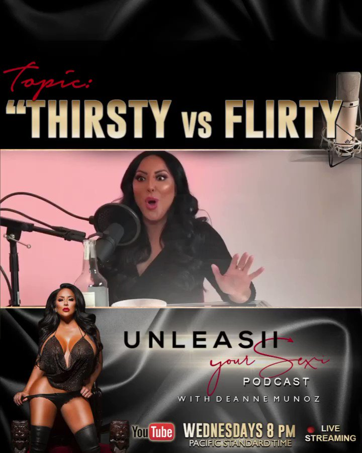"""🎙New Podcast🎙 Topic """"Thirsty vs Flirty"""" guest starting @cmendez78 See what Hollywood's popular Actor explains about it! This is one topic for the books! Men please listen and forward this to your best friend!"""