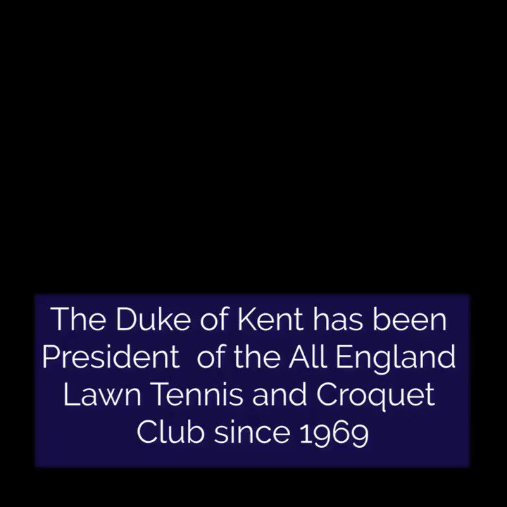 🎾🏆 This weekend would have been the @Wimbledon Finals, during which The Duke of Kent, President of the All England Lawn Tennis and Croquet Club, normally presents the champions with their trophies.  The Duke has been President of the AELTC since 1969.