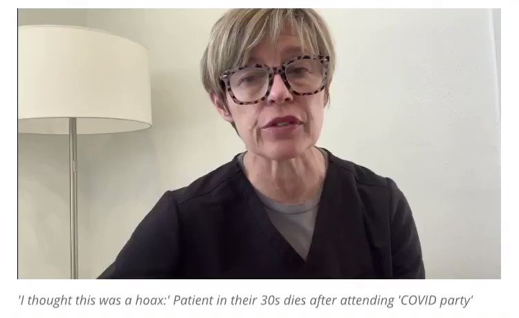 """A sad, shocking story from the chief medical officer of San Antonio's Methodist Hospital: A 30-year-old who attended a """"Covid party"""" and then made a deathbed confession to the nurse. """"I think I made a mistake. I thought this was a hoax."""""""