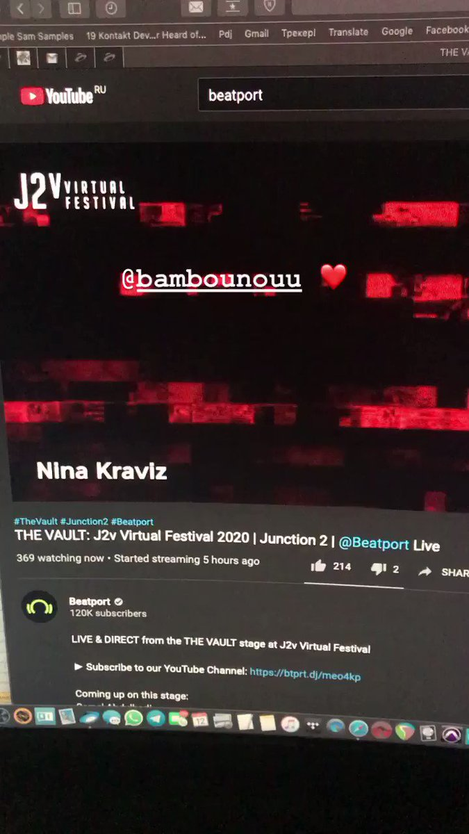 my set for Junction festival is streaming now (youtube, FB) ❤️