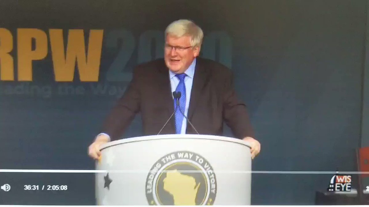 This is @RepGrothman *today* at the Wisconsin Republican convention (which was held in-person)