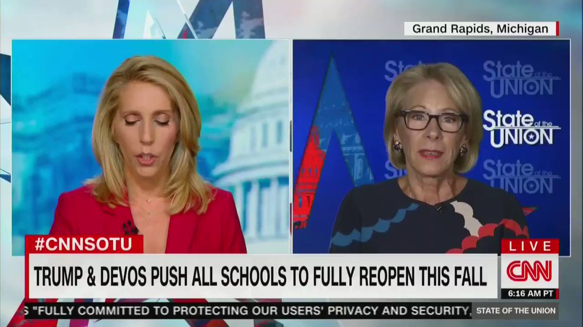 Disastrously embarrassing performance by DeVos this morning.
