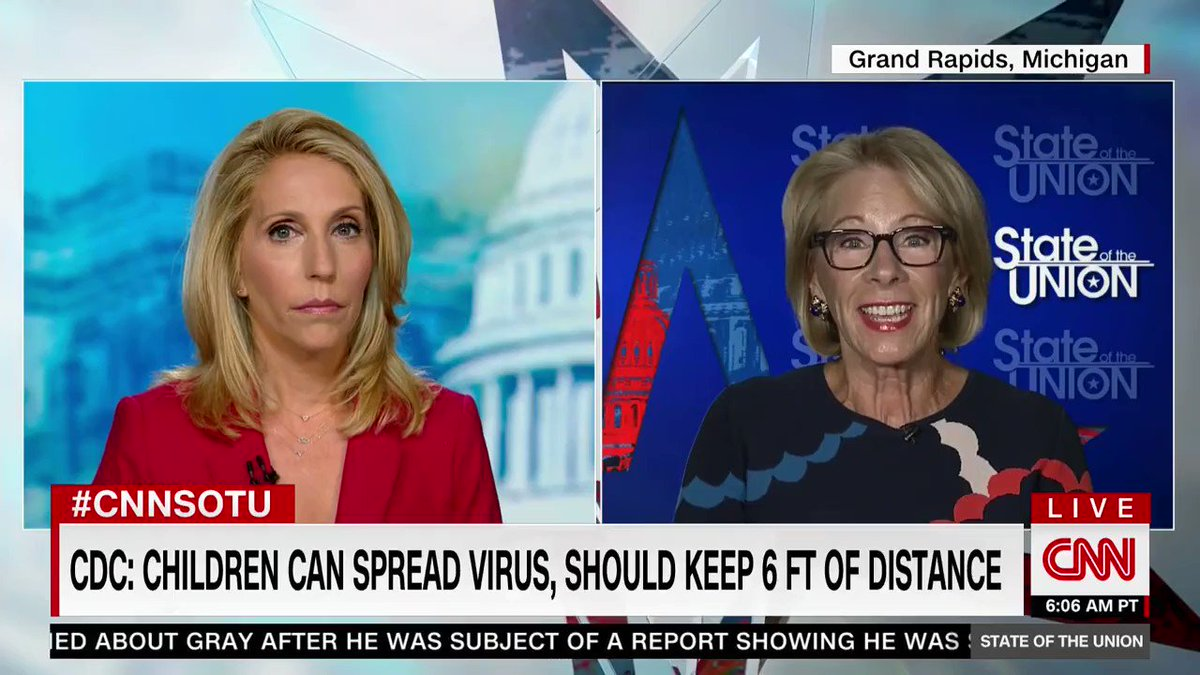 .@BetsyDeVosED is absolutely right.   Kids need to be in school and they need to be learning.