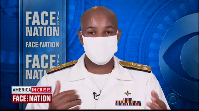 Trump tool & Surgeon General Jerome Adams said today that COVID-19 could be turned around in 2-3 weeks if everyone wears a masks & social distances  This guy is a joke.  I've never seen so much dancing around a questions.  WATCH: