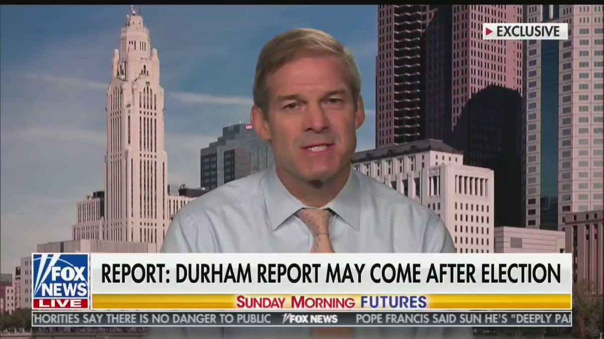 """While America is ravaged by a deadly pandemic and unemployment is in double digits, Rep. Jim Jordan claims that """"the number one question I get from people"""" is about """"when somebody is going to jail"""" for the investigation of the Trump campaign's dealings with Russia"""