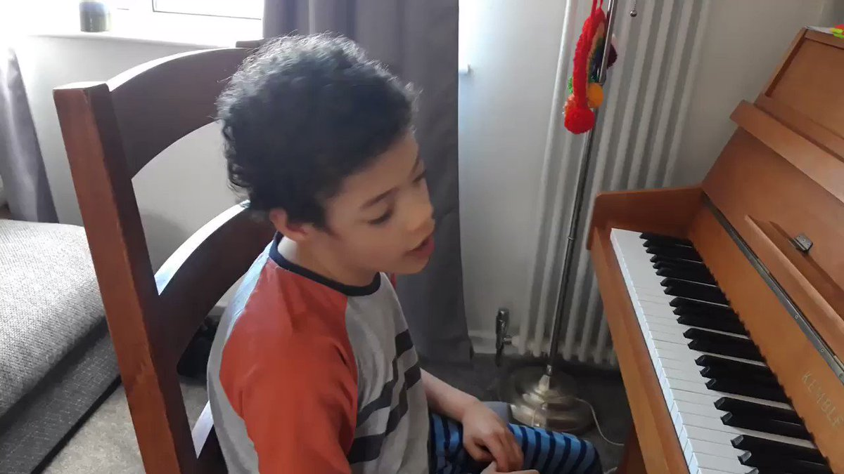 8 year old Lennie has cerebral palsy. Yet he's mastered this... listen to the love❤️  H/T @buitengebieden_