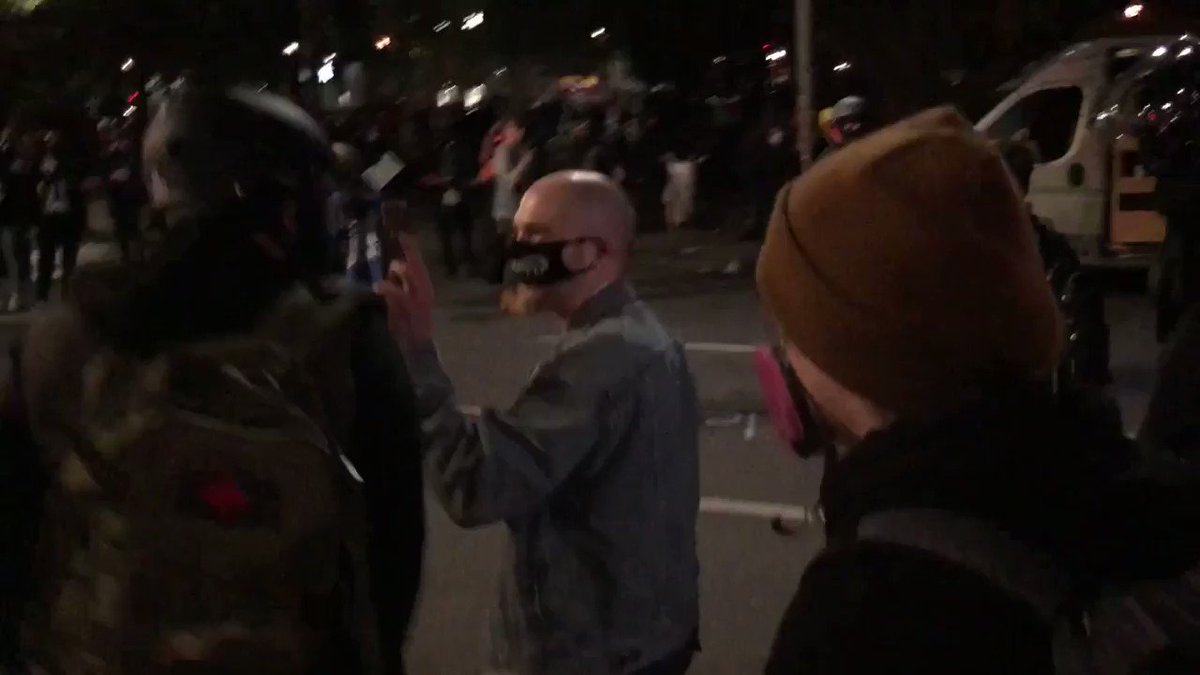 Antifa harass and assault person filming them at the public gathering in Portland. On social media they have released names and photos of non-approved media & cameramen. Recently they beat & robbed a livestreamer. Video by @livesmattershow