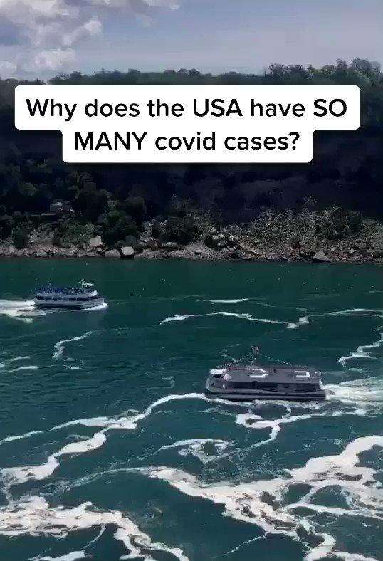 Niagara Falls does a great job of explaining the current situation 😱-📹 zinzinkiki #Canada #COVIDIOTS #Niagara #NiagaraFalls #COVID19ON #PhysicalDistancing