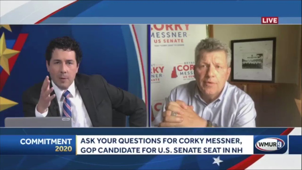 Unbelievable.  During a Facebook live interview with @AdamSexton , Colorado Corky tried to make his case about his Granite State credentials.   @WMUR9 #nhpolitics #nhsen