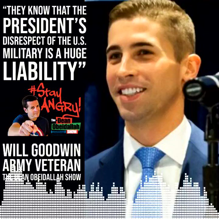 """Donald Trump is TERRIFIED... they know that the President's disrespect of the U.S. military is a HUGE liability. It upsets Democrats, it upsets Republicans, it upsets Independents"" - @Will_P_Goodwin  Thanks, @DeanObeidallah, for including VoteVets on @SXMProgress! #TraitorTrump"