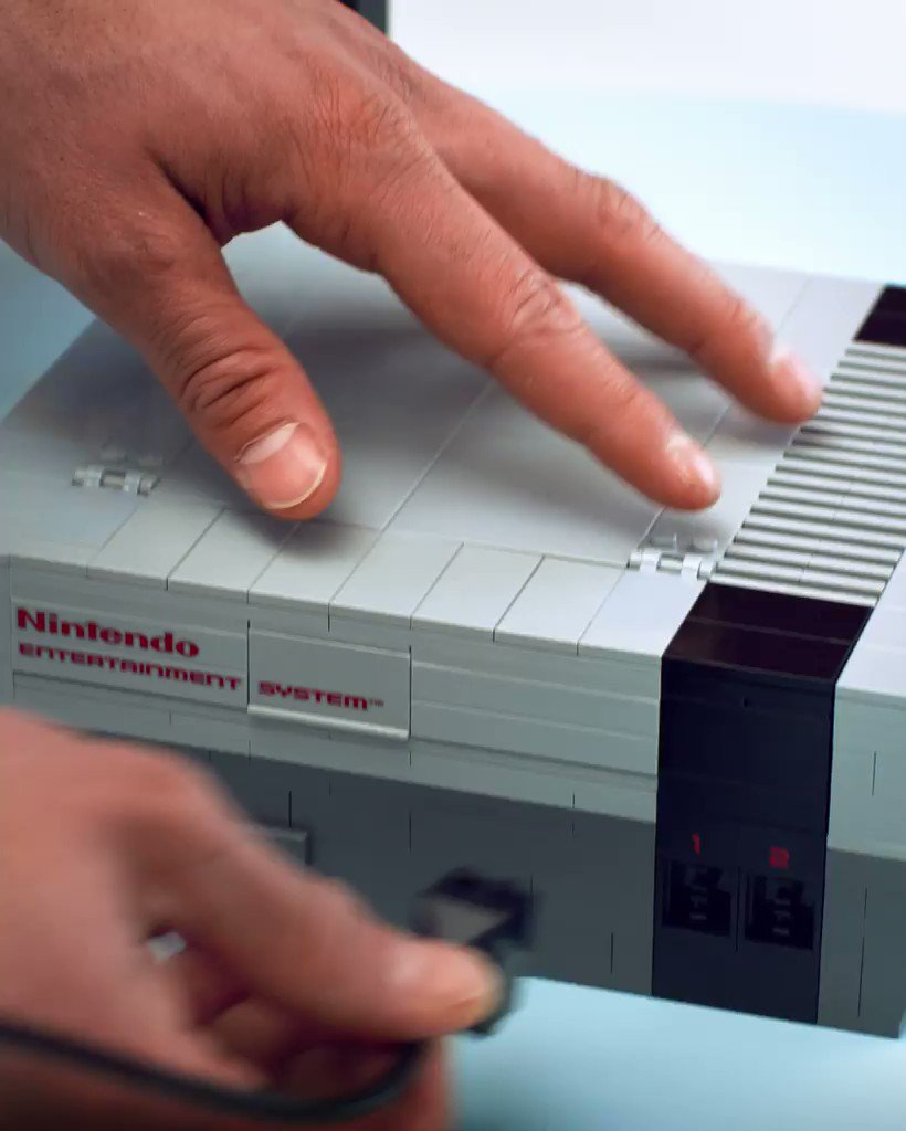The LEGO Nintendo Entertainment System! Now you're playing with power...and...