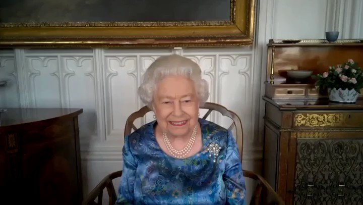 🌎 The Queen recently spoke to service personnel from @BritishArmy, @RoyalNavy and @RoyalAirForce via video call, to hear about the work of the British Armed Forces at home and overseas.