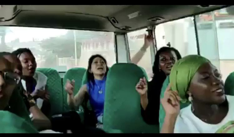 """Positive moments from 2019 when our founder, @KarenTseIBJ, met with #women defenders in #Rwanda and recorded this video after a prison site visit. """"When we say yes! Nobody can say no!"""""""