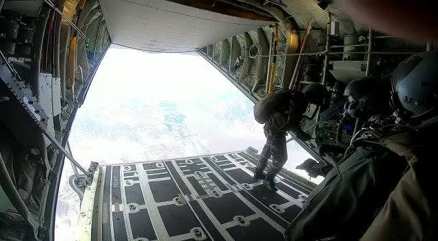 Indian Para Troopers aboard C130 Hercules in the skies over #Ladakh  JOSH is HIGH