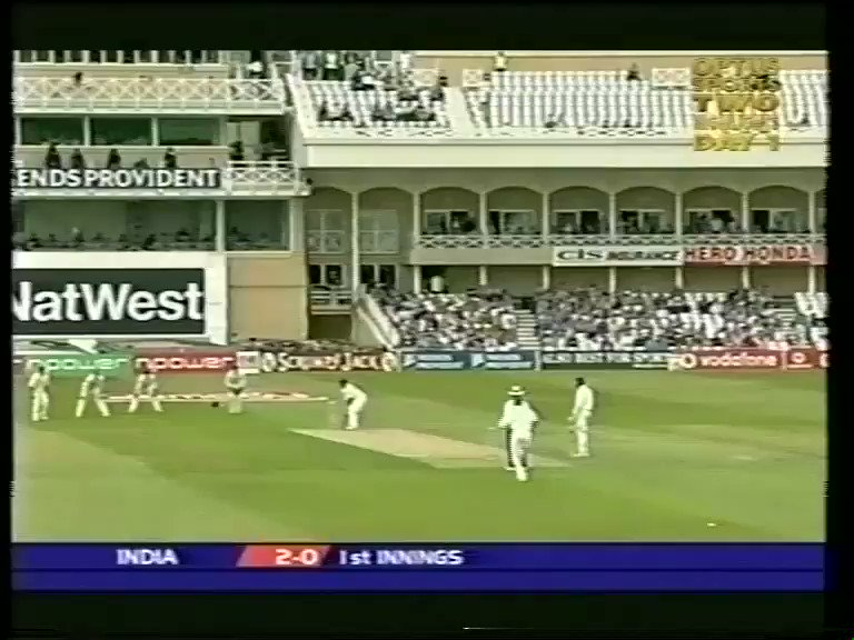 On this day....2002  Virender Sehwag did this 👇🏻  1st century opening the batting in tests, glorious display at Trent Bridge.