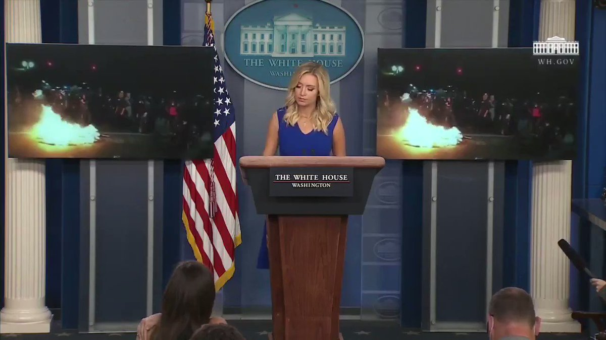 This is the full clip from yesterday's White House Press briefing that nearly every news station refused to air  These are riots, not protests—there is nothing peaceful about any of it  Please RT to get the Truth out:
