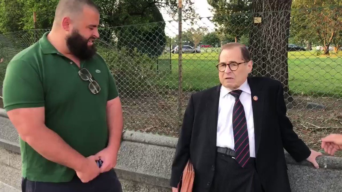 "I ran into Jerry Nadler in DC and asked him to disavow the Antifa violence/rioting in Portland.   His response?   ""THATS A MYTH"""