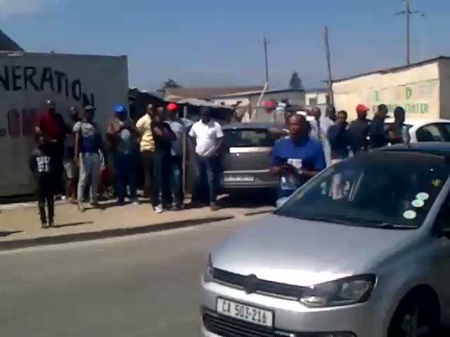 Protests in Cape Town Protest in Delft Style #PutSouthAfricansFirst