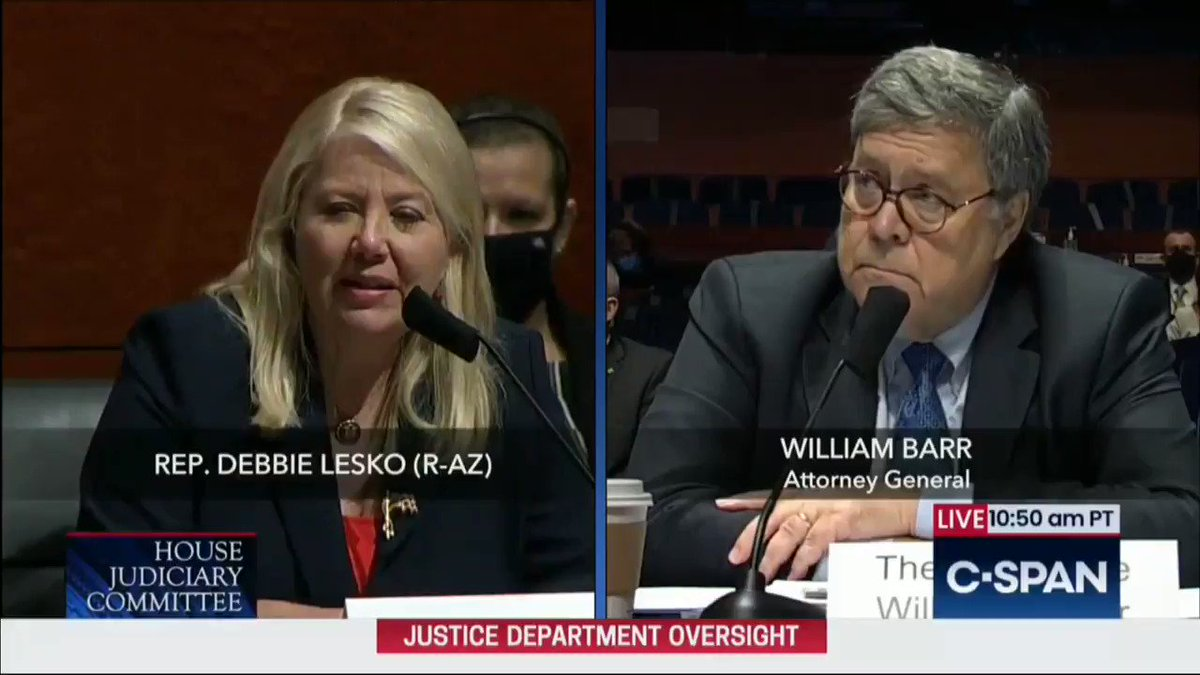 """Attorney General Barr: """"What makes me concerned for the country...the leaders of one of our great two political parties, the Democratic Party, are not coming out and condemning mob violence and the attack on federal courts"""""""
