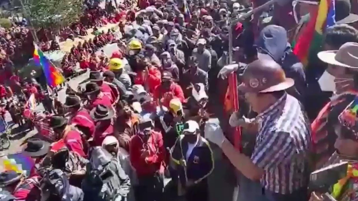BREAKING: Bolivia's COB workers' federation announces a 72-hour deadline to retract decision to postpone elections. A general strike and road blockades begin Monday in all nine departments if the deadline isn't met.  COB labour leader Juan Carlos Huarachi: