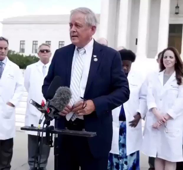"""""""We're here only to help American patients & the American nation heal.   We are not held down by the virus as much as we're being held down by the spiderweb of fear; & that spiderweb is constricting us & draining the lifeblood of the American people, society, & American economy."""""""