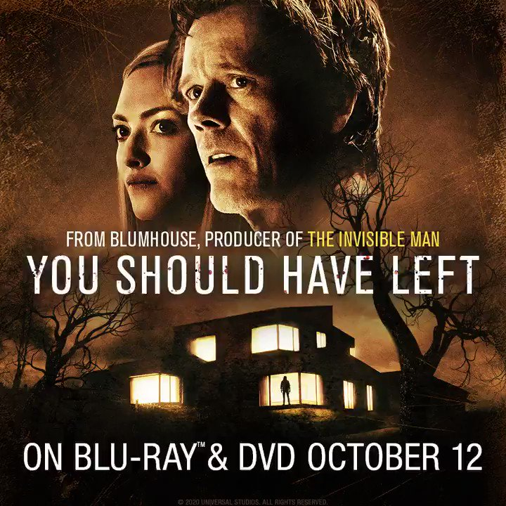 #YouShouldHaveLeftMovie will be out on Blu-Ray and DVD in the UK on Oct. 12th. Preorder now.  @universaluk @UniversalHorror
