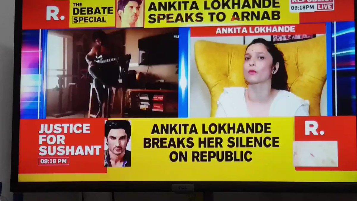 #Ankitalokhande interview on sushant @republic with arnab goswami. He wants to do farming nd make short films. He was not a depressed man or bipolar. #RheaChakraborthy #SushantDeathMystery #SushantRheaTwist #SushantSinghRajpoot #SushantConspiracy   Watch here