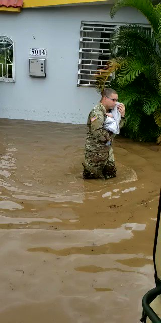 Just received this video of a 13 month old baby carried out of a flood home by a Puerto Rico National guardsman.  Location: Mayagüez  10 people were rescued:  7 elderly 2 young adults 1 baby