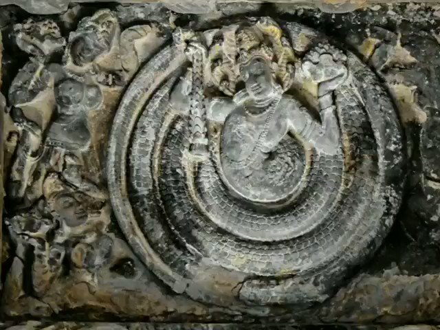 The Nagadevata craving sculptures at Durga temple,  Aihole,  Karnataka.  Aiholehas historical significance and has been called a cradle of Hindu rock architecture. The documented history ofAiholeis traceable to the rise of the Early Chalukya dynasty.  @LostTemple7 @ShefVaidya