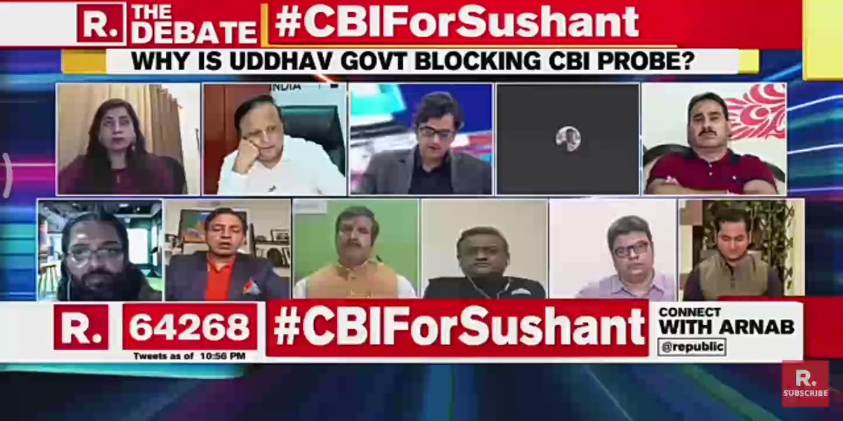 "I got some relief when #ArnabGoswami said ""Hear me loud and clear Uddhav Thakrey the entire truth will come out"" .I can't thank him more as I firmly believe Arnab will make it .We will get Justice.  #CBIForSushant #CBICantBeDeniedForSSR"