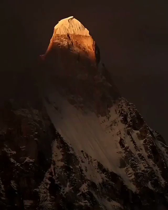 The magical Shivling Mountain - a divine wonder at Tapovan..!
