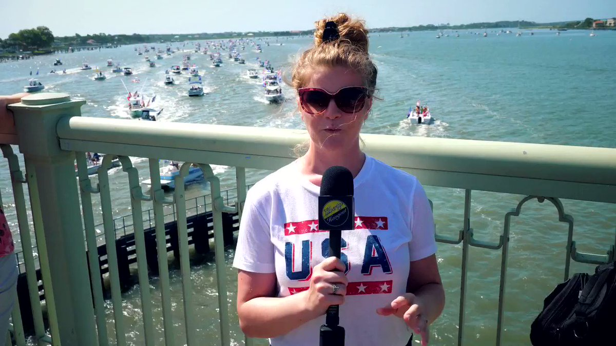 The media doesn't want you to know this, but THOUSANDS of Trump supporters rallied in Saint Augustine today for a boat parade to support @realDonaldTrump! His support for 2020 is HUGE!