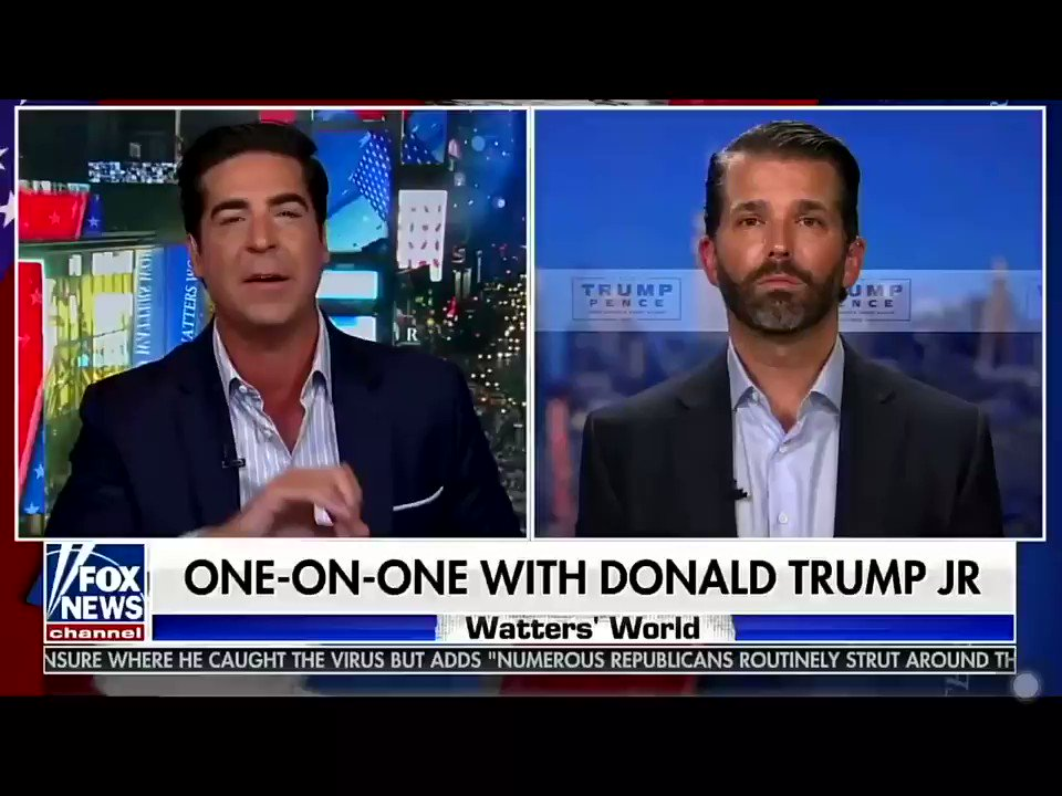 .@DonaldJTrumpJr says @JoeBiden is literally the first politician in history to not go over the time limit in a debate. At what point do we start calling it elder abuse.
