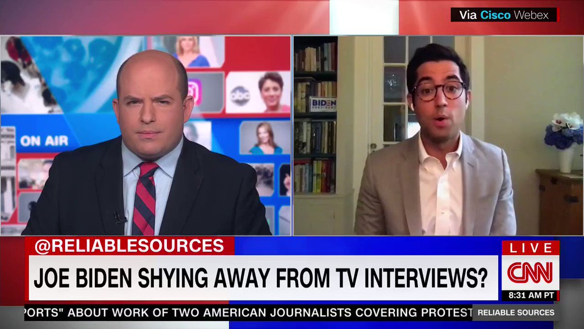 .@TDucklo came to @ReliableSources with the #FactsFirst this morning >>  Since March 1, @JoeBiden has done nearly 100 media interviews. Meanwhile, Donald Trump only talks to Fox and friendly outlets, including ~world-renowned journalist~ Donald Trump Jr.
