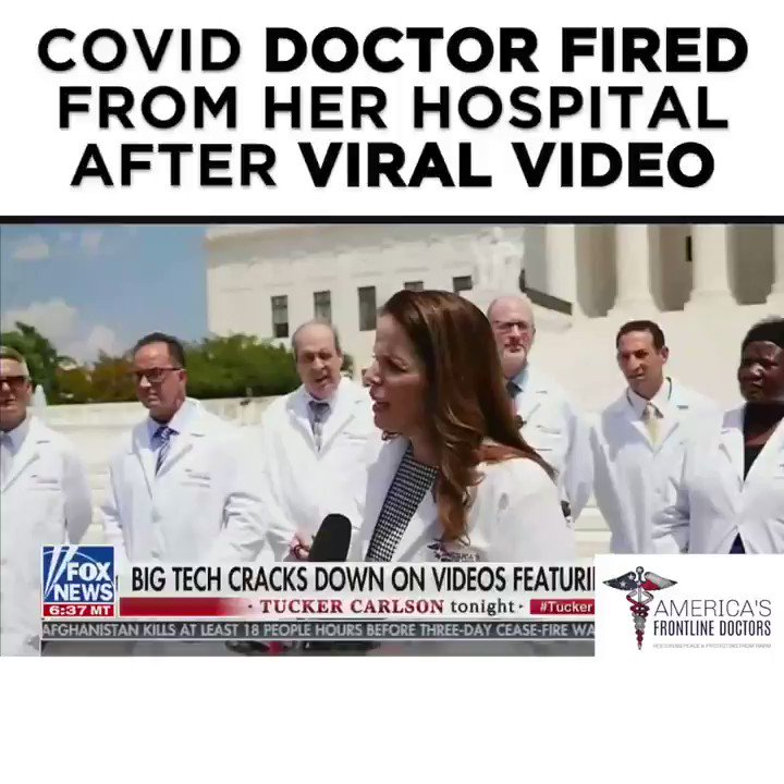 After our press conference, I was defamed by the media, censored by social media companies, terminated from employment, and viciously attacked, all for advocating for the right of physicians to prescribe what they believe is best for their patients.