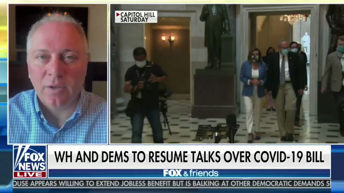 Dems' demands: - Mail-in/No-ID voting - Stimulus checks to illegal immigrants - Green New Deal provisions - Tax breaks for blue state millionaires - $ for sanctuary cities - $ for pot industry  What a joke.  That's not COVID relief. It's Pelosi's No Liberal Cause Left Behind Act.