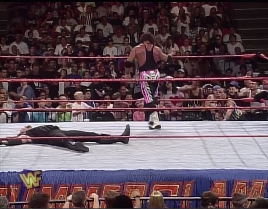 August 3rd 1997, SummerSlam. 23 years ago today @BretHart beat The Undertaker to win the WWE Title, this was the 5th and last WWE Title victory of Bret's career. #WWE