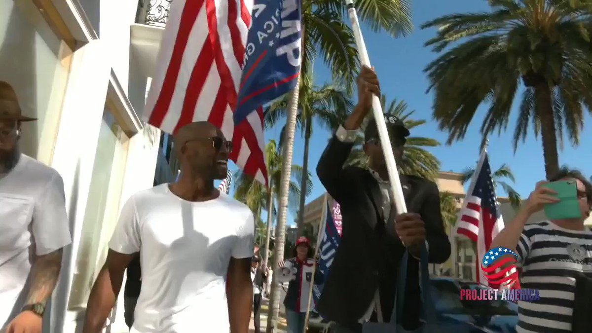 Amidst the scorn, and despite being called c**ns and Uncle Tom's, a few of us black Trump supporters took to the front to head a collective march thru the streets of Los Angeles, as we all showed support for America, Trump, and our police. #liberalsworstnightmare #BLACKLIVESMAGA