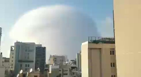 Massive explosion in Beirut, about 30 minutes ago. Details to follow.