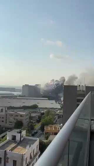 Note the second #Explosion at the end #Beirut #Lebanon